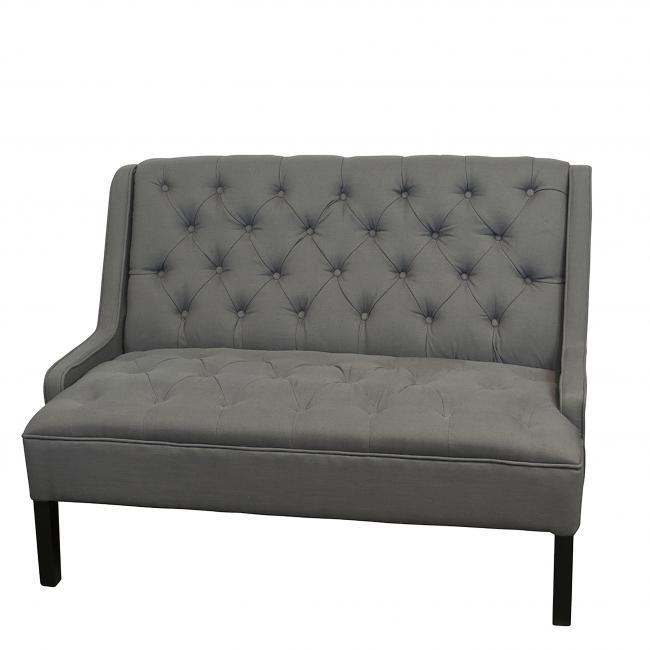 Awesome Tufted Grey Sofa Newport Tent Company Inzonedesignstudio Interior Chair Design Inzonedesignstudiocom